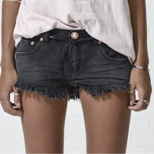 One Teaspoon No.2 Cut-off Denim Shorts